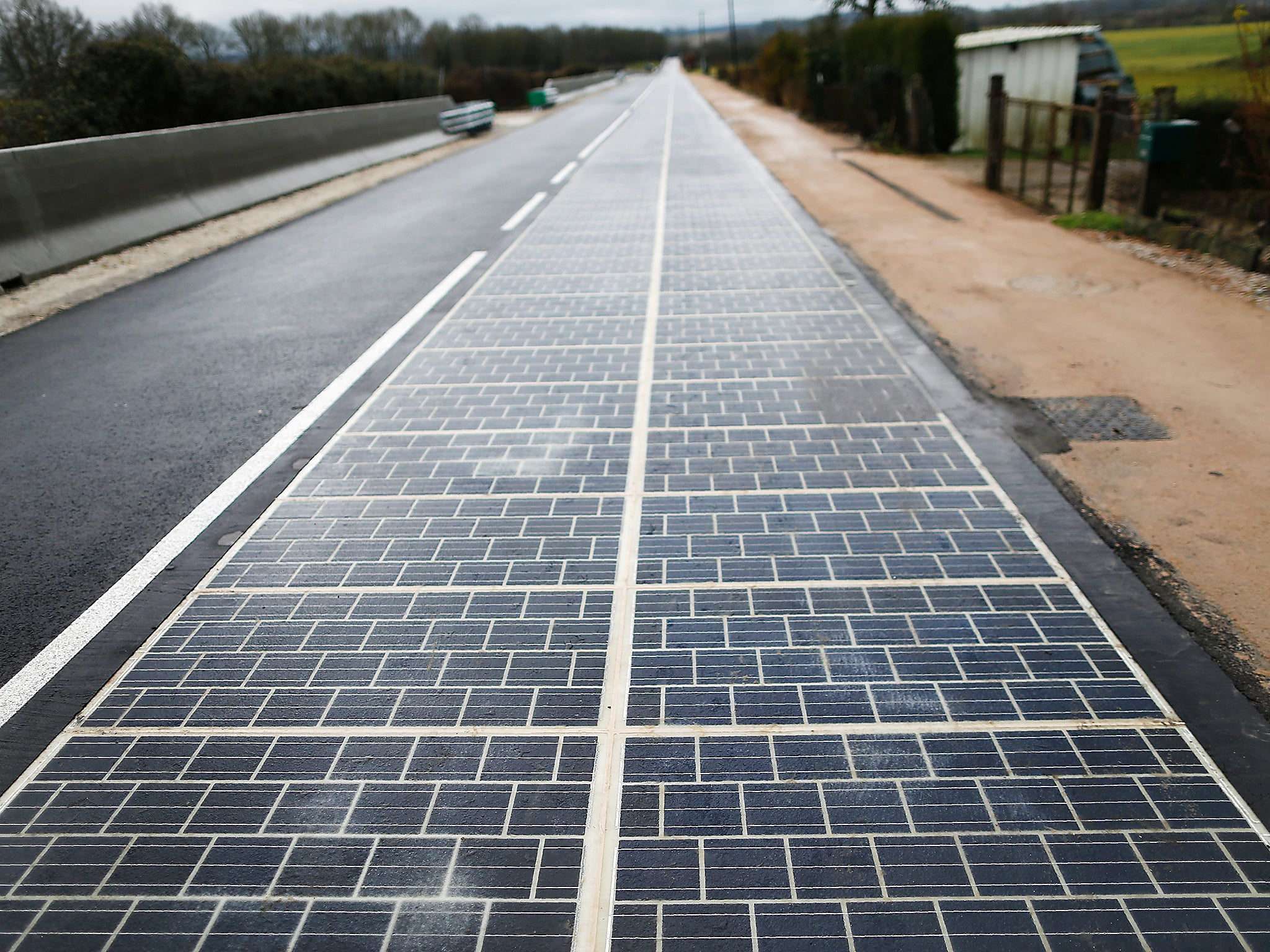 World S First Solar Highway Opens In France The Independent