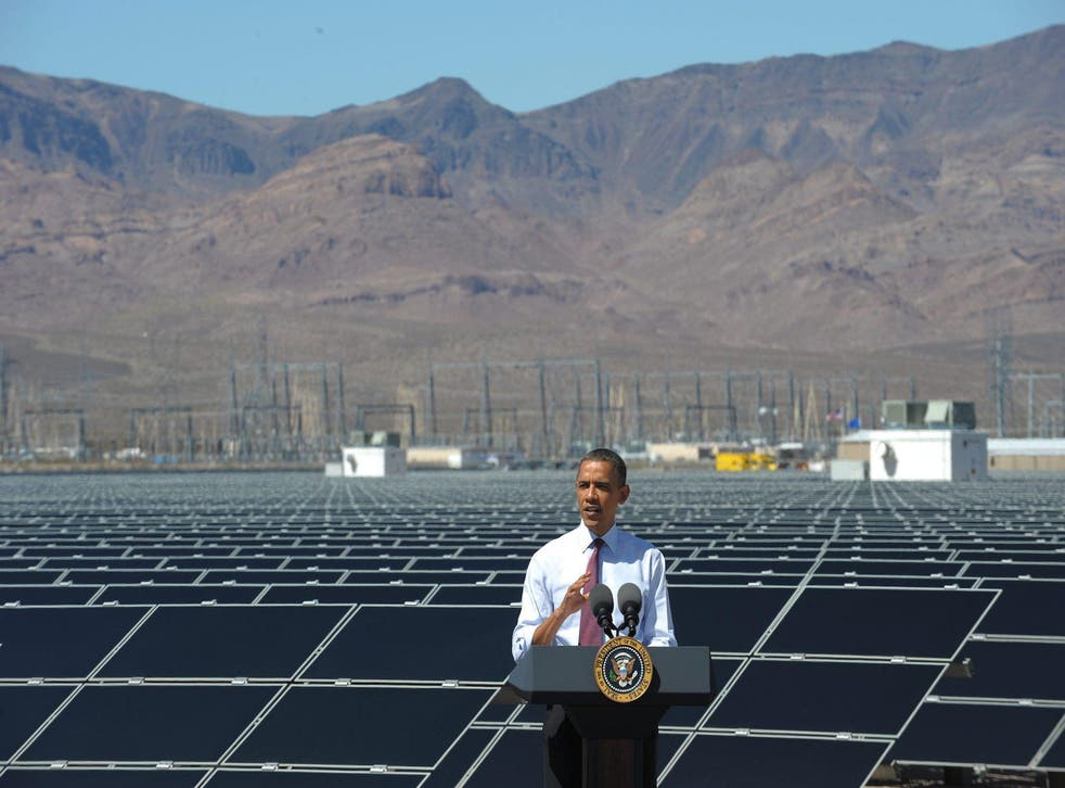 Barack Obama chose the Copper Mountain Solar Project in Nevada to talk about his energy policies, but Donald Trump has different priorities