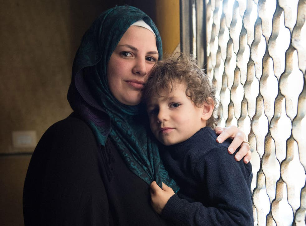 Leen Baaj with her son, Omar