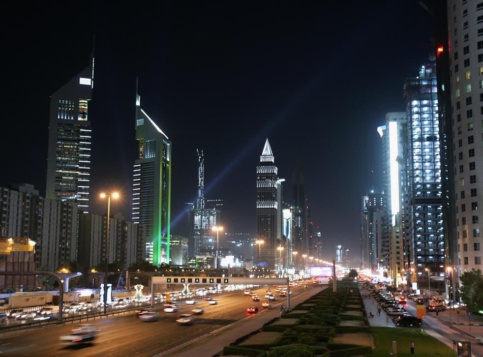 The iconic Emirates Towers in Dubai