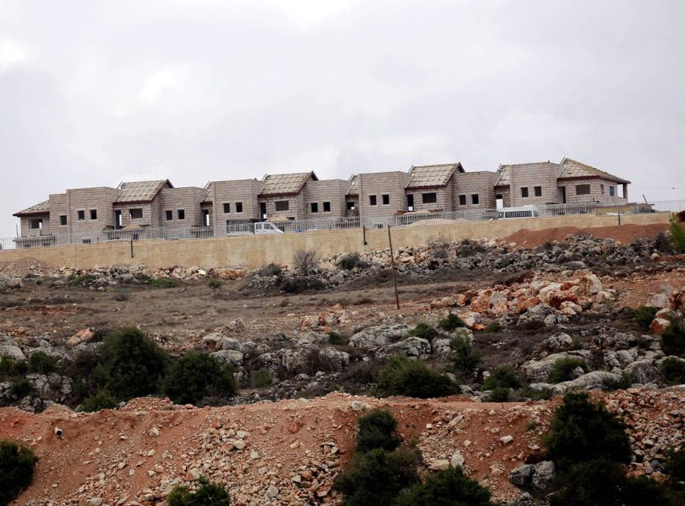 The Jewish settlement of 'Furat' is under construction in the West Bank, south of Bethlehem
