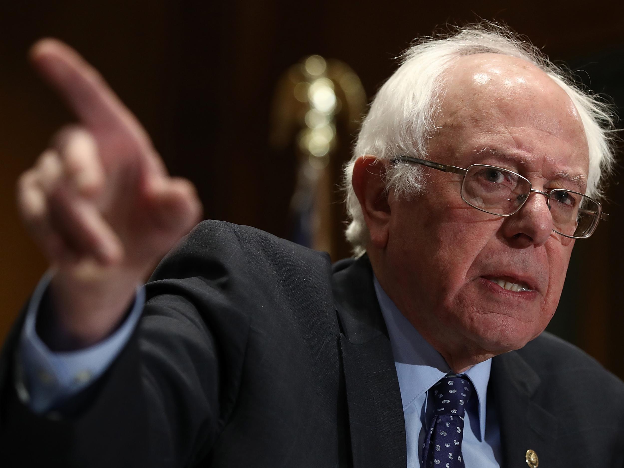 bernie sanders responds to 2020 presidential bid question with