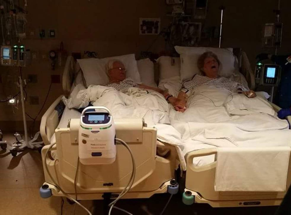 Dolores, originally in the hospital to sit at her dying husband's bedside, died 11 hours before her husband