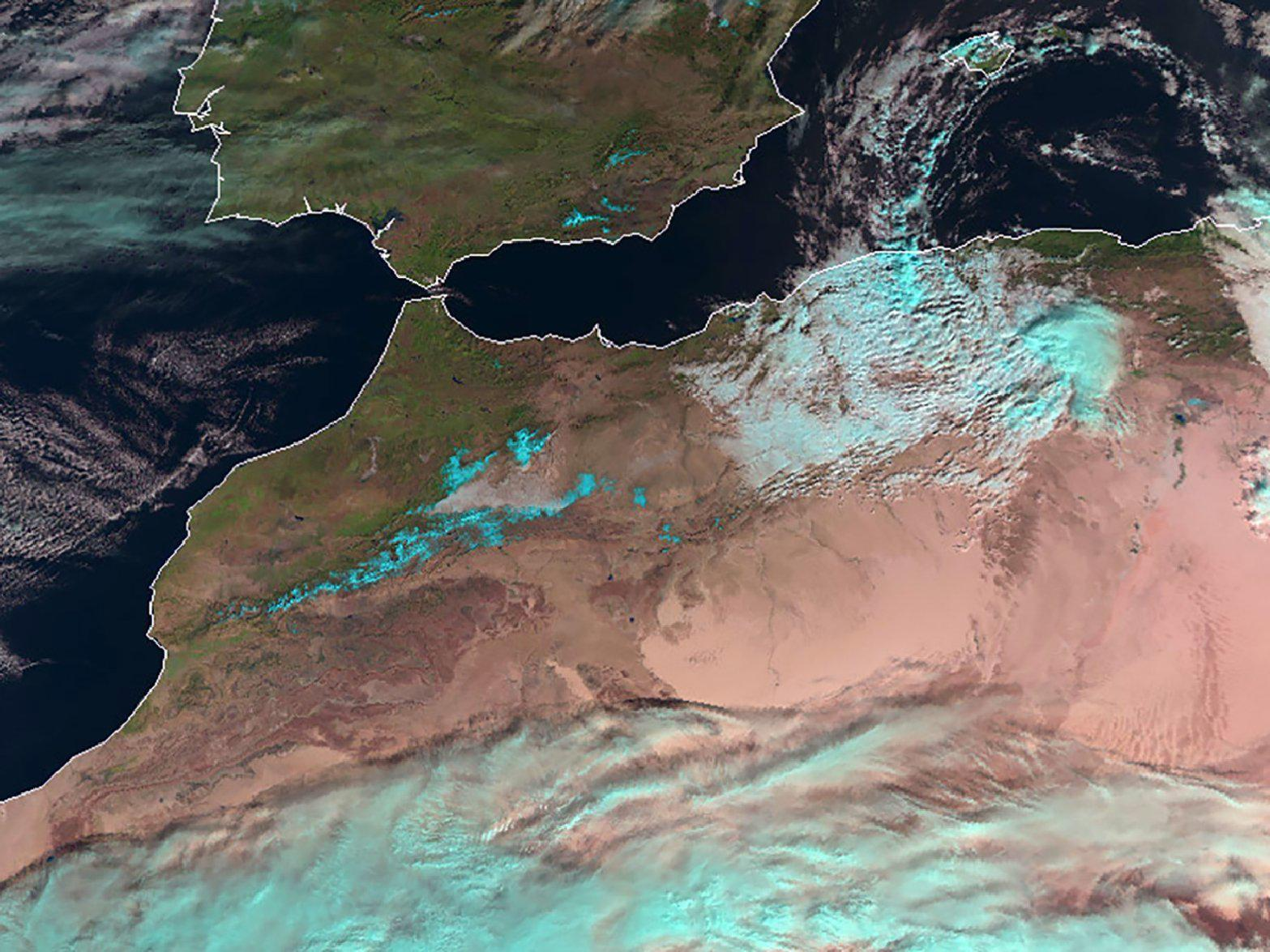 Satellite photo shows snow in Sahara for first time in 40 years