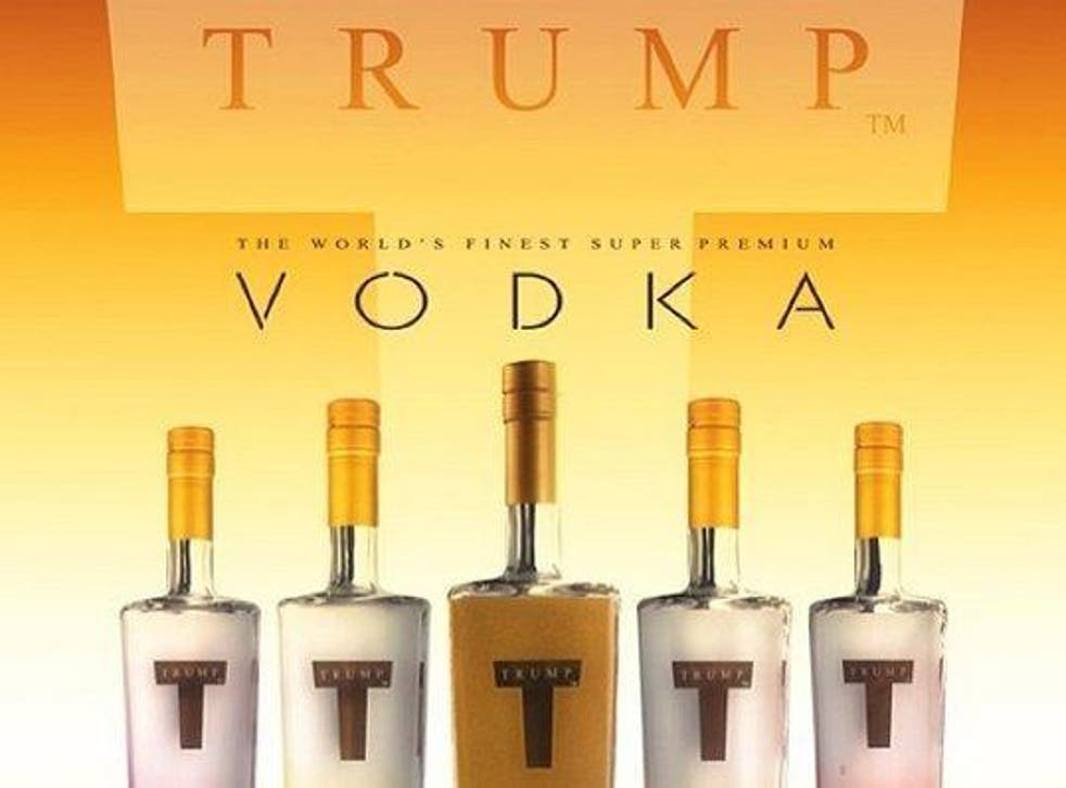 Trump Vodka, discontinued in the USA in 2011, is still sold under license in Israel