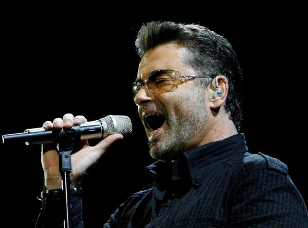 """George Michael performs in concert at the Forum during his """"Live Global Tour"""" in Inglewood, California June 25, 2008"""