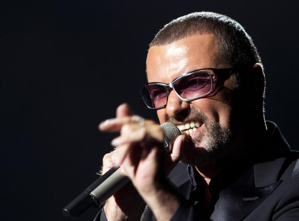 British singer George Michael performs on stage during a charity gala in 2012