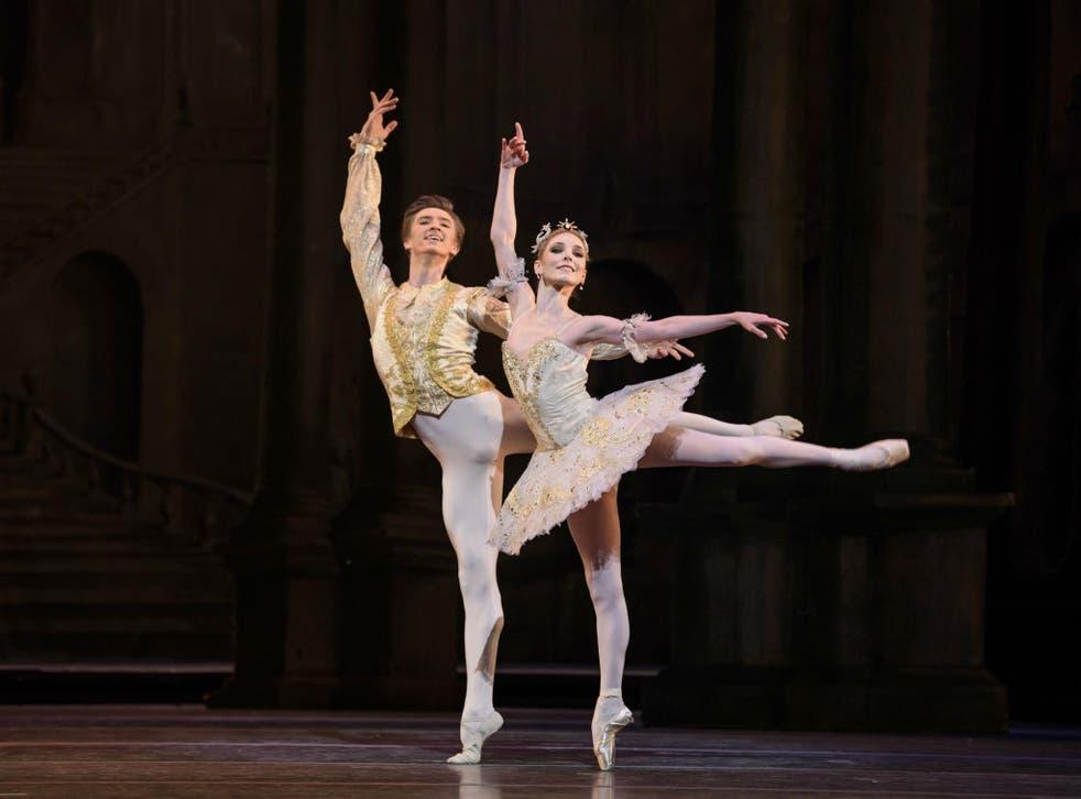 Vadim Muntagirov as Prince Florimund and Sarah Lamb as Princess Aurora in The Sleeping Beauty