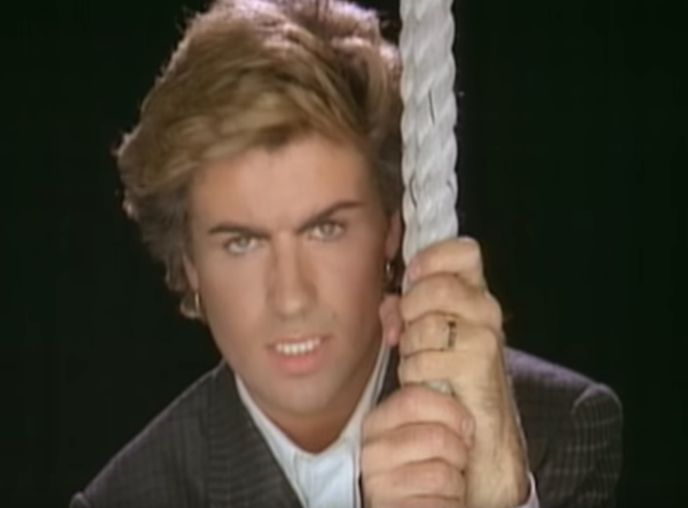 George Michael in the video for 'Careless Whisper'