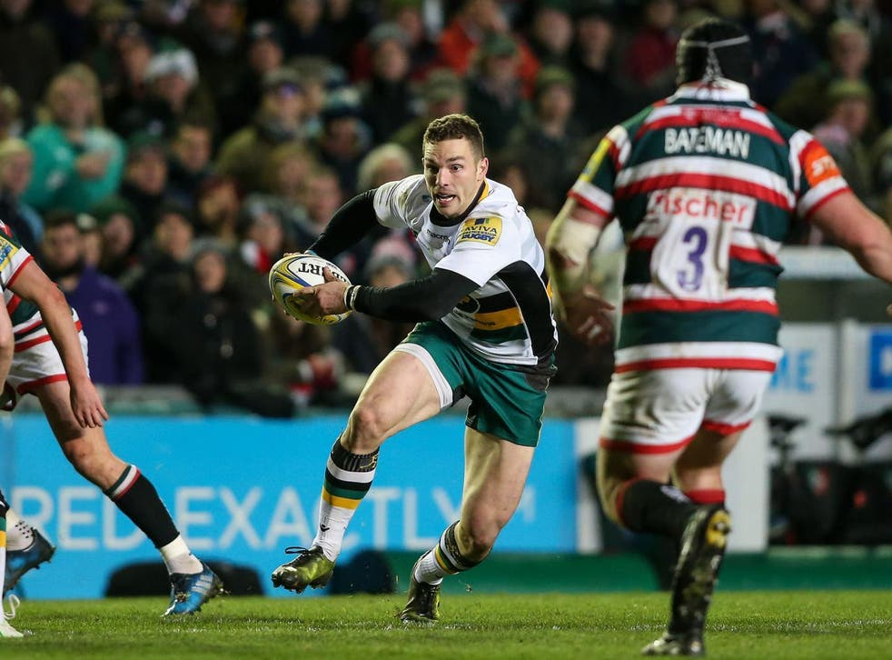 George North suffered a concussion in Northampton Saints' match against Leicester Tigers
