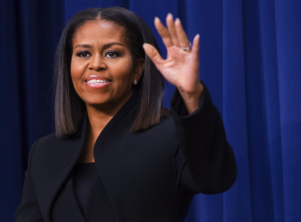 Ms Obama was one of the most popular figures in the 2016 election, appearing alongside Hillary Clinton, who she referred to as 'my girl', on the campaign trail