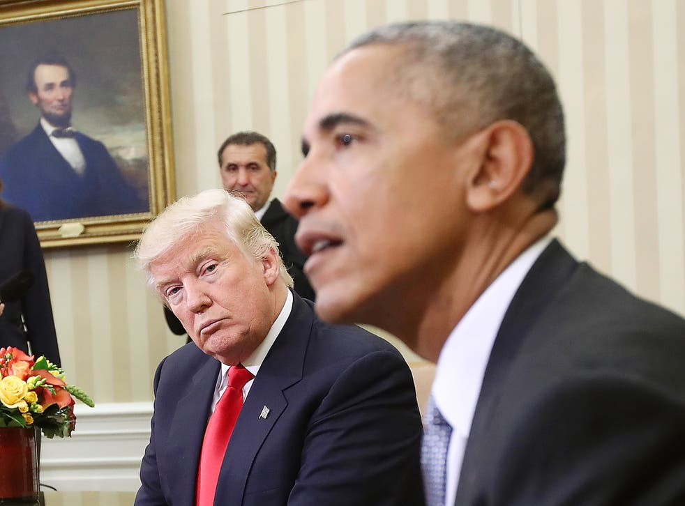President-elect Donald Trump and US President Barack Obama