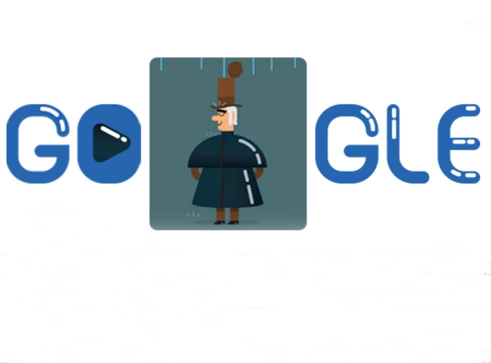 Today's Google Doodle celebrating Charles Macintosh