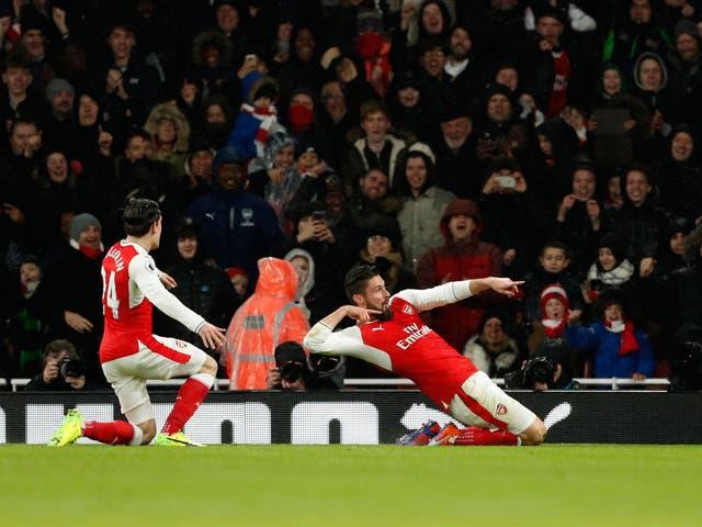 Arsenal take on the Eagles
