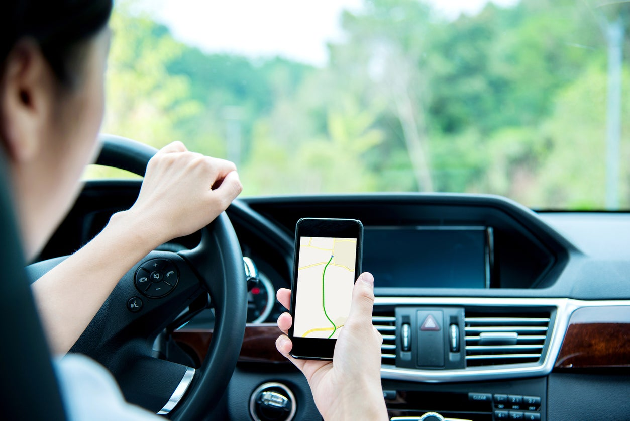 Why California banned holding smart phones in cars