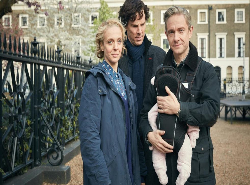 Dr Watson is left holding the baby after the sudden and unexpected death of wife Mary
