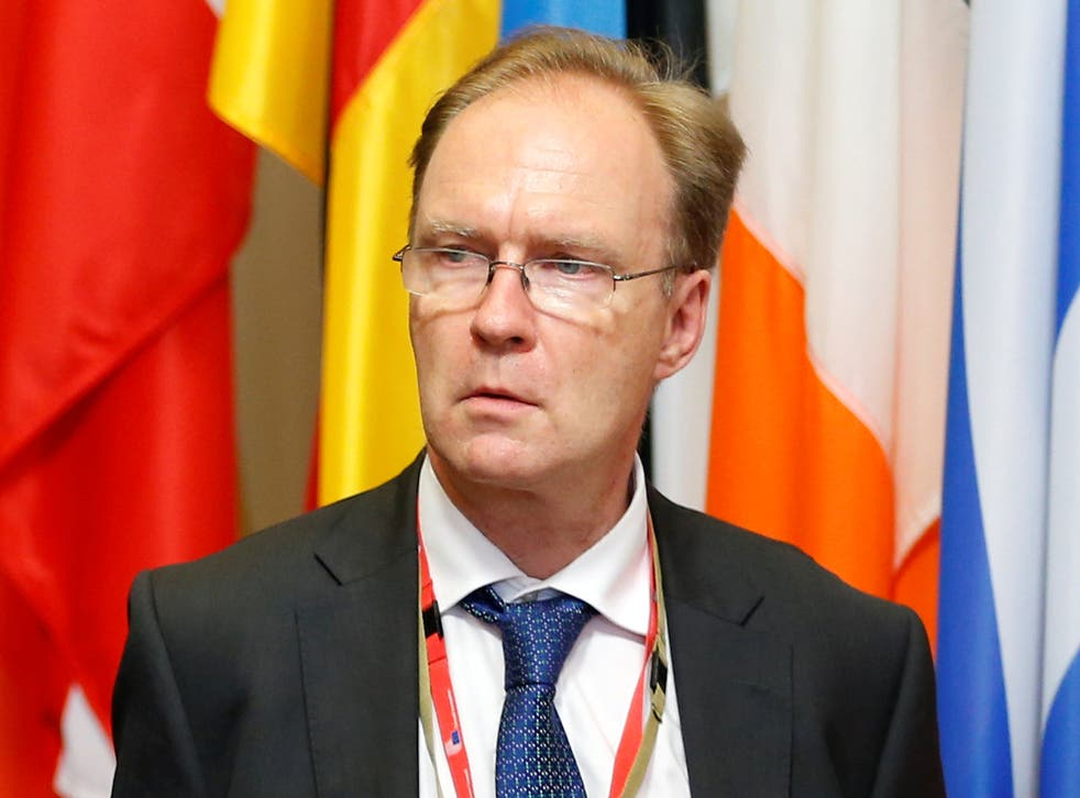 The diplomat was appointed by David Cameron in 2013 and was due to stay in office until November