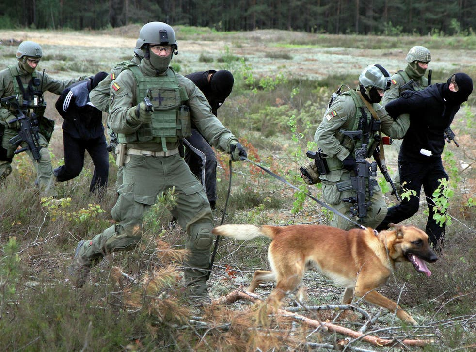 US Special Operations forces will work with Lithuanian special ops troops shown here on a joint exercise