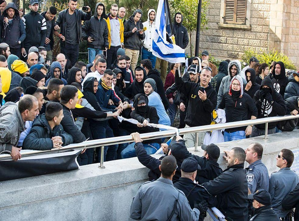 Protests outside Sgt Elor Azaria's trial in Tel Aviv on Wednesday 5th January turned into clashes with police