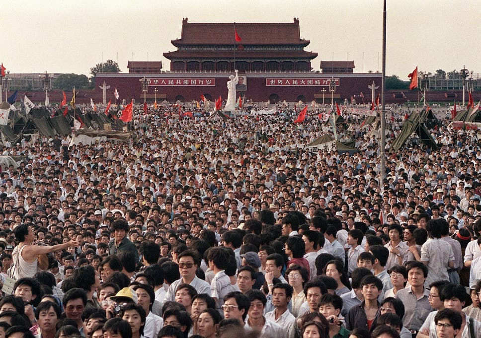 Protests in Tiananmen Square, Beijing, spring 1989