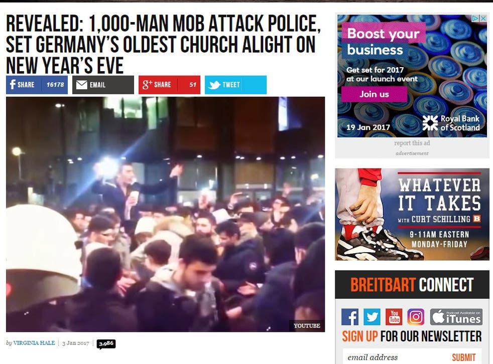 The Breitbart report said more than 1,000 men chanted 'Allahu Akhbar'