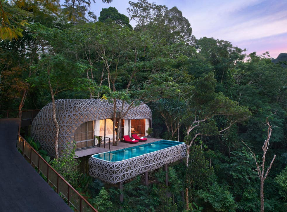 It's treetop of the morning to you with an elevated pool at this couples' paradise in Thailand