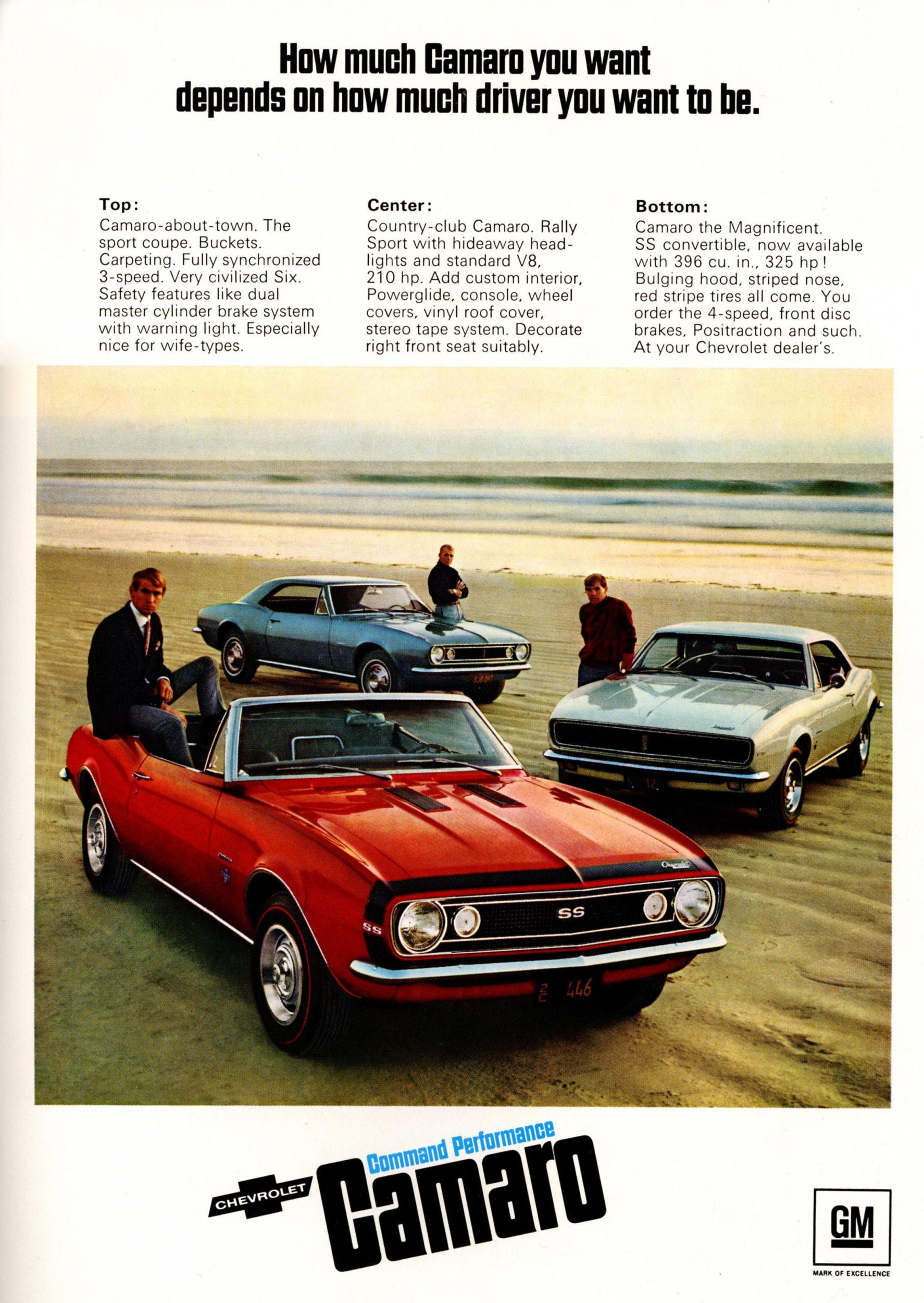 Muscle Car Heaven Americas 50 Year Love Affair With The Camaro 1968 Chevrolet Rs Dub Edition A 1967 Ad Rex Features