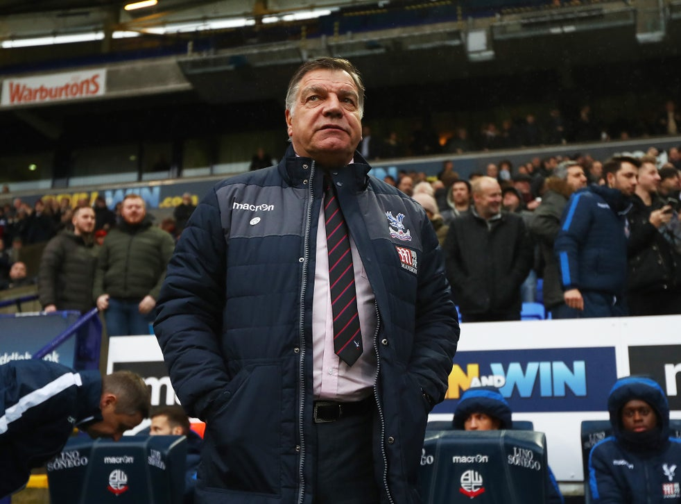 Sam Allardyce Admits He Is Scared That Crystal Palace Could End His Record Of Never Being Relegated The Independent The Independent