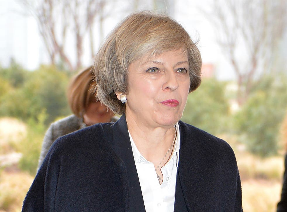 Prime Minister Theresa May arrives at Sky News in London