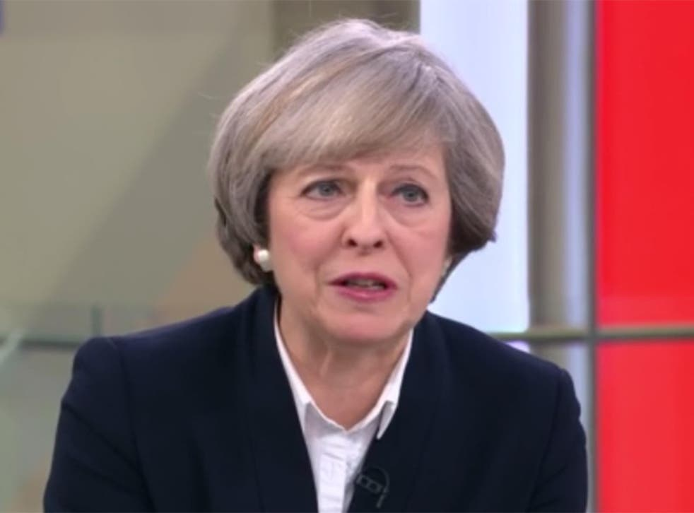 Theresa May said America would support Nato despite Donald Trump suggesting otherwise