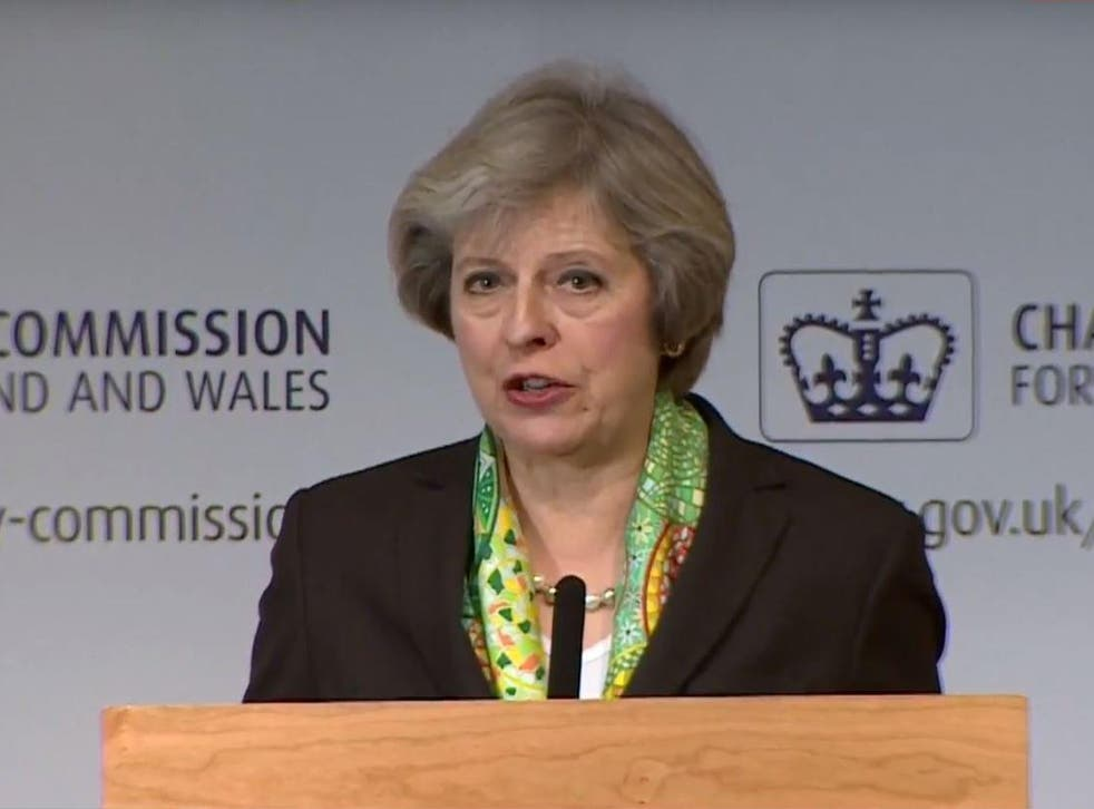 Theresa May pledged new initiatives for schools and employers to provide mental health support