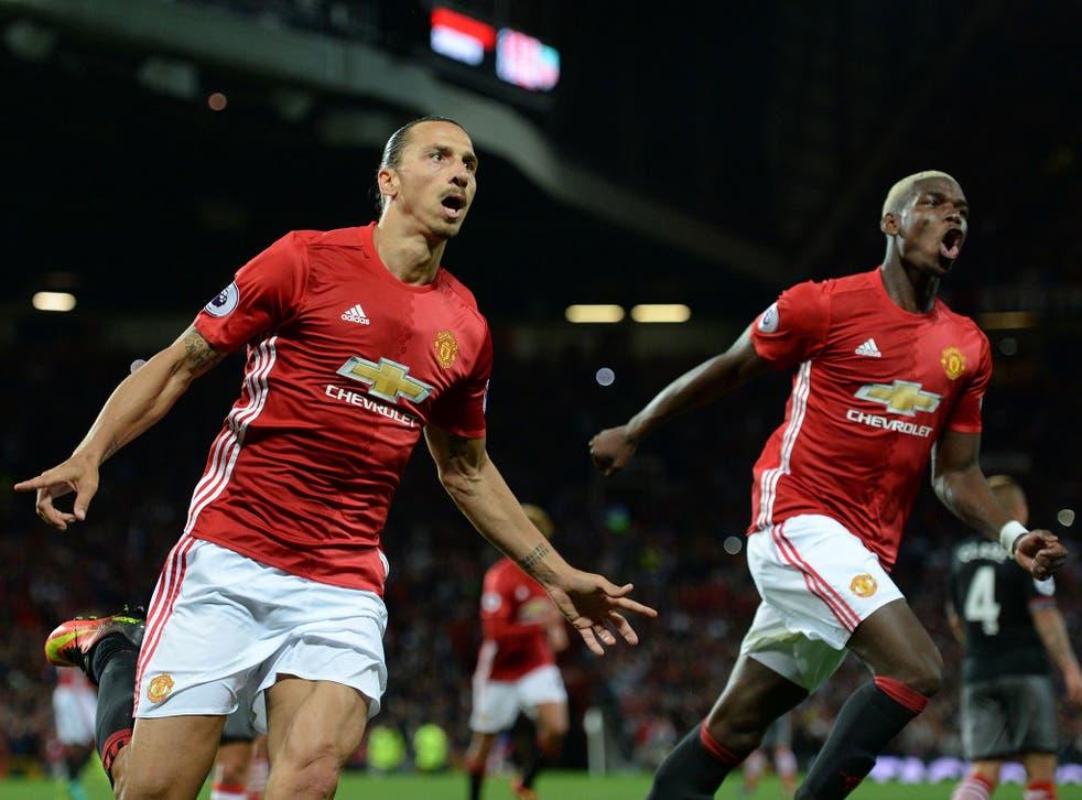 Zlatan Ibrahimovic impressed while Pogba struggled against the Reds