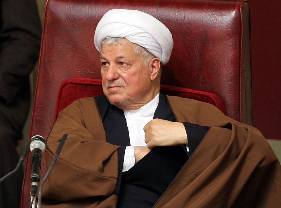 File photo taken on 8 March, 2011 shows former Iranian President Akbar Hashemi Rafsanjani, attending a meeting of the top clerical body in Tehran