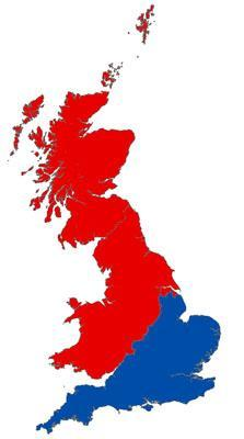 Map Of Uk No Labels.This Map Shows Exactly Where The North Is Indy100