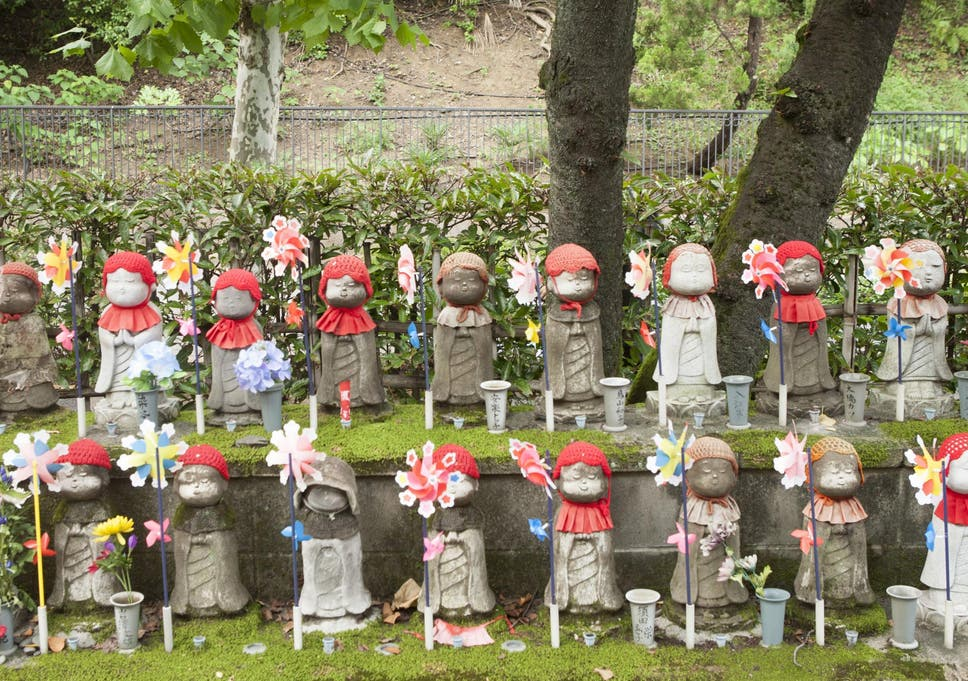 Jizo Statues At The Zojoji Temple In Japan
