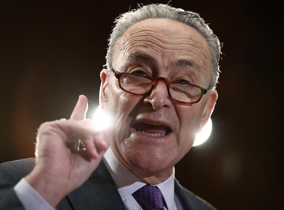 Chuck Schumer is the Democrat minority leader in the Senate