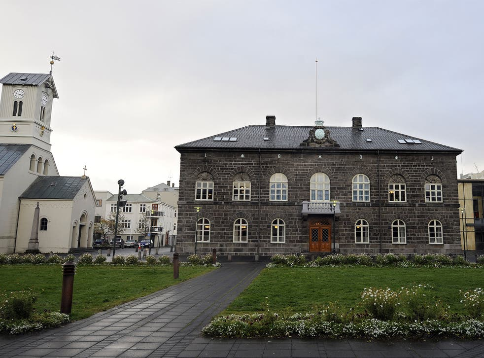 The building housing Iceland's parliament