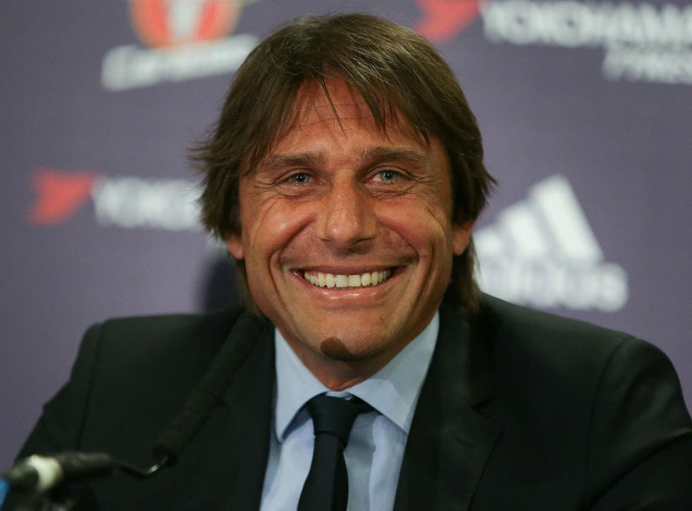Conte was all smiles after another important win for Chelsea