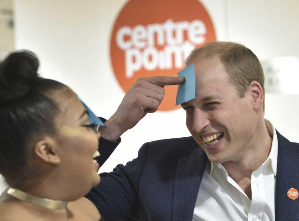 The Duke of Cambridge plays a guessing game at a Centrepoint hostel, asking around, 'Am I famous?'