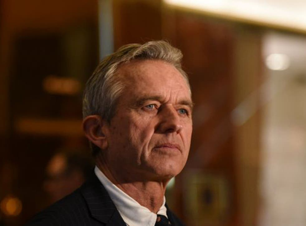 Robert Kennedy Jr. speaks with members of the press at Trump Tower