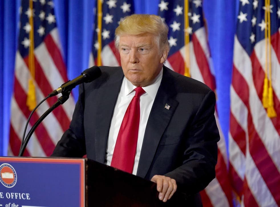 The President-elect dismissed the compromising allegations made against him in the document, made public yesterday