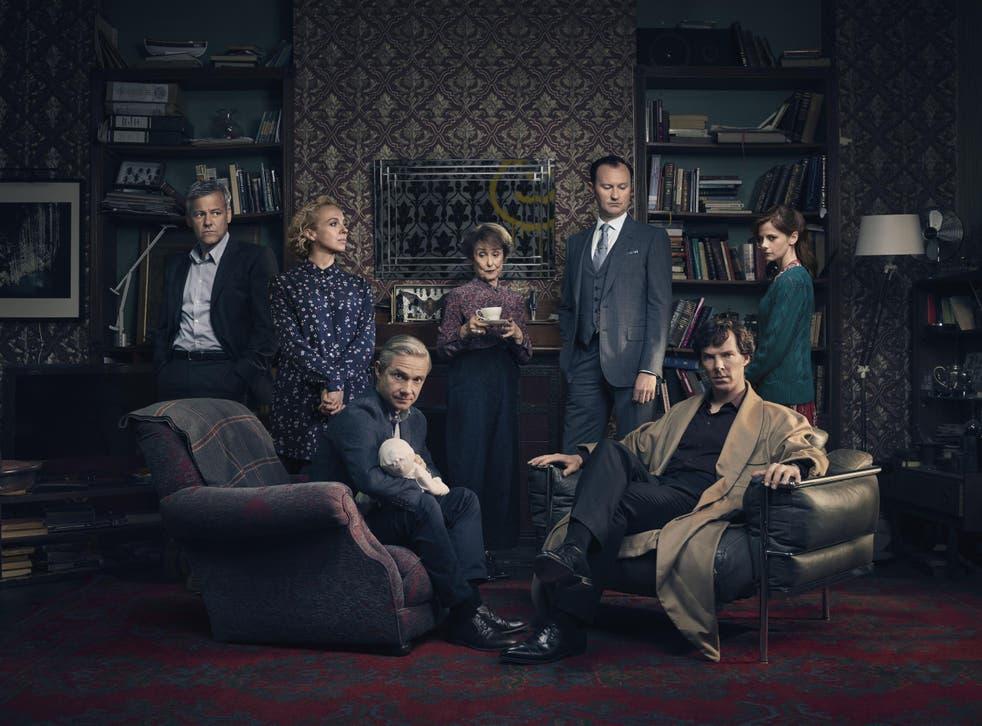 The main cast of Sherlock