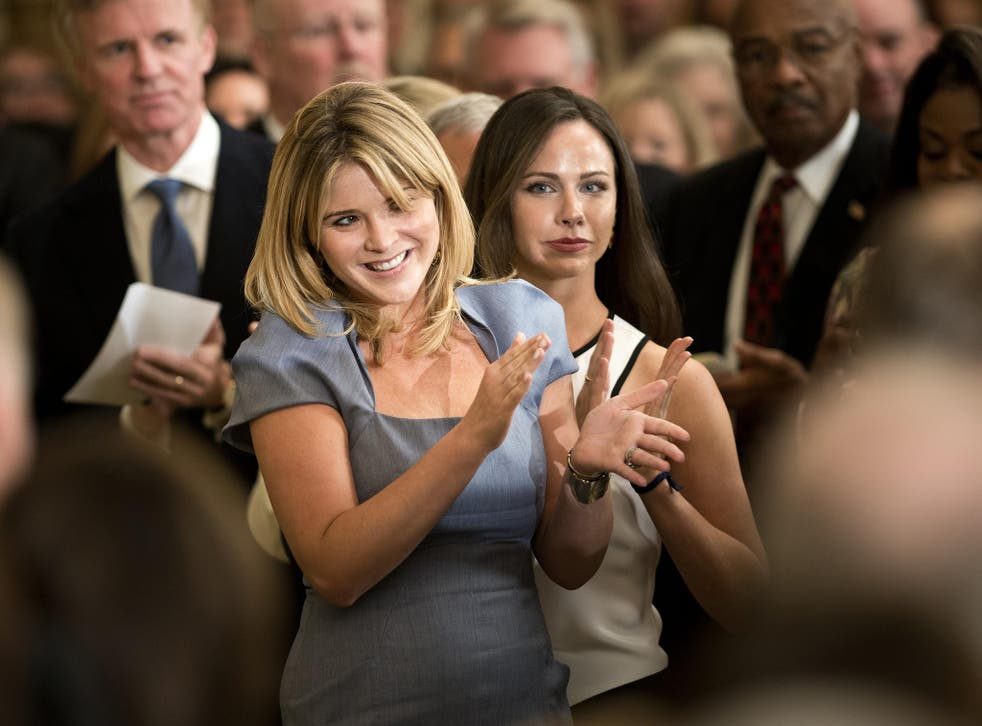 Jenna Bush-Hager and Barbara Bush first welcomed the Obama daughters to the White House in 2008