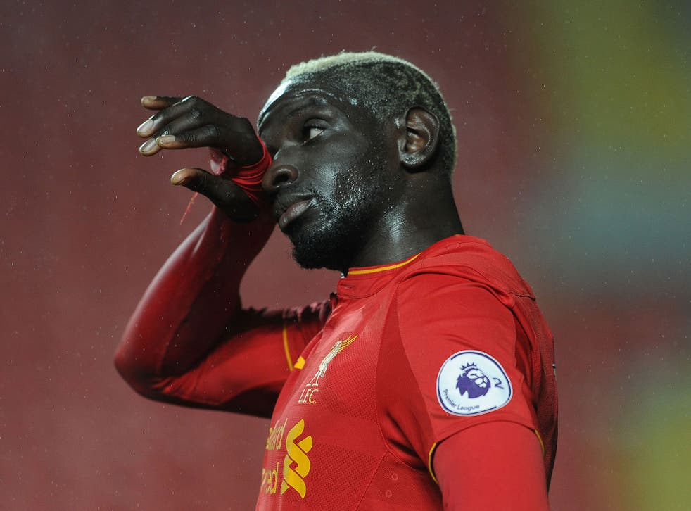 Mamamdou Sakho in action for Liverpool during a Premier League 2 match