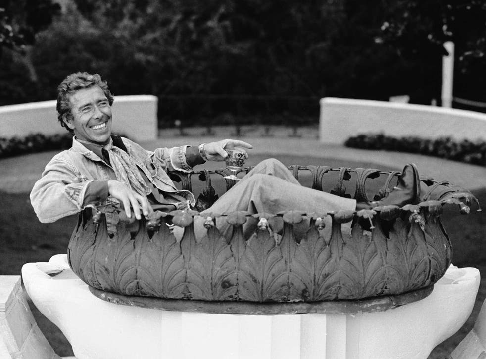 Lord Snowdon, pictured in Peter Sellers's garden in the mid-1970s, was known for being a 'free spirit'