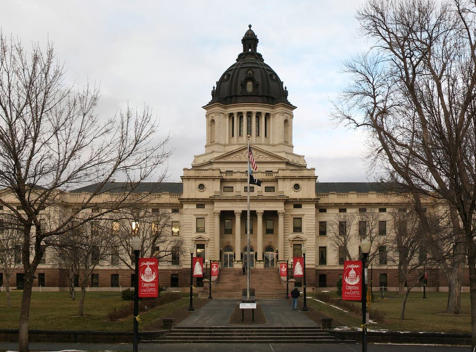 South Dakota Capitol. A move to outlaw legislators having sexual contact with their interns has been voted down