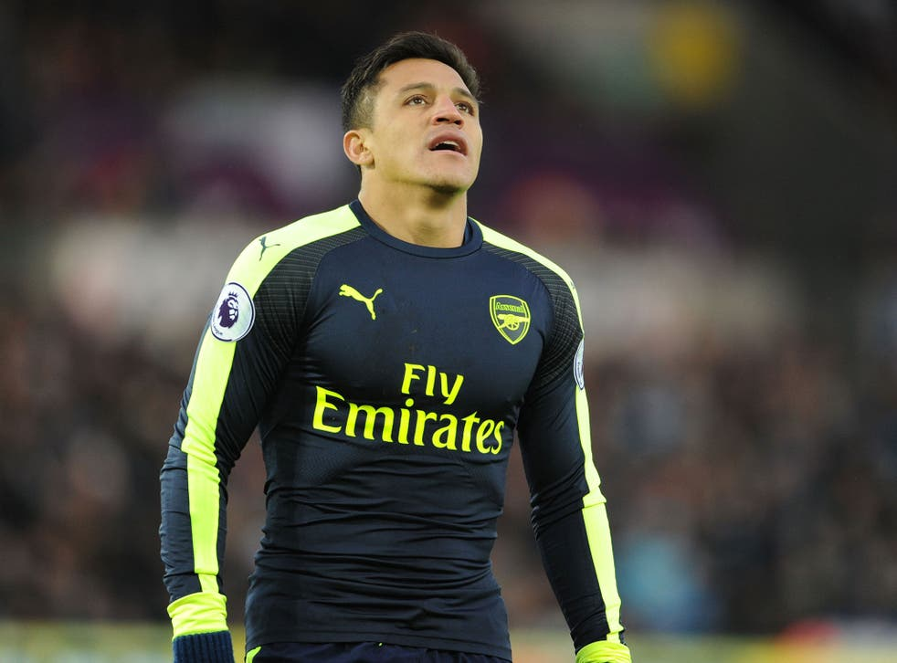 Alexis Sanchez was unhappy at being substituted during Arsenal's 4-0 win over Swansea