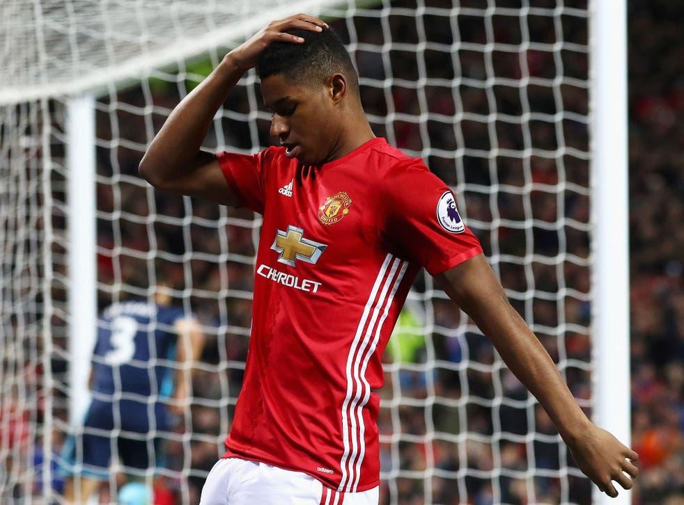 Rashford has scored six goals for United this season