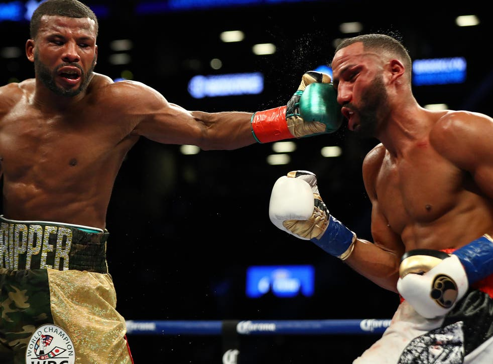 DeGale went down after a heavy hit in the last round