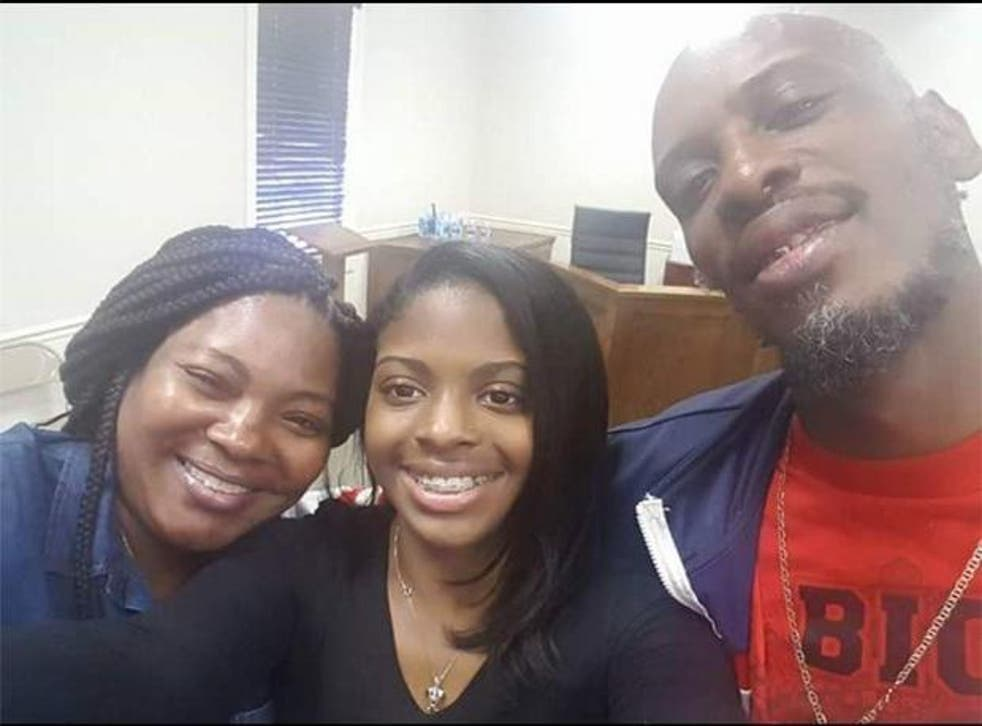 Ms Mobley was reunited with her biological parents, Shanara Mobley and Craig Aiken, 18 years after being abducted as a newborn